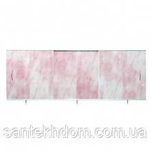 """Экран под ванну """"Ода"""" универсал(150-50) светло-розовый."""