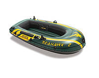 Надувная лодка двухместная для рыбалки Intex 68346 Seahawk-2