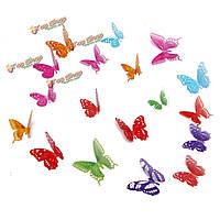 18шт 3-я красочная стена бабочки красоты этикетки DIY домашний художественный подарок художественного оформления свадебной вечеринки перев