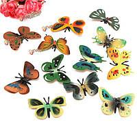 12шт пластиковые бабочки красочные наклейки настенной росписи искусства отличительные знаки дома свадьба  декор