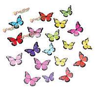 19шт 3-й кристалл бабочки прозрачная стенная этикетка домашнее стенное художественное оформление свадебной вечеринки переводных картинок