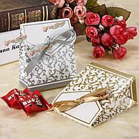 1шт Золотая свадьба серебро лента выступает партия подарочные конфеты бумажные коробки сумки