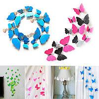12шт 3-е искусство бабочки проектируют стенные художественные оформления свадебной вечеринки внутреннего декора этикеток переводных карти