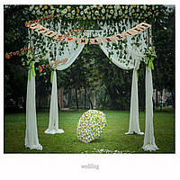 Мешковины овсянка свадьба баннер Гирлянда партии фотографии флагов украшения фото реквизит поставок