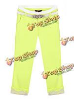 Шить кружево Candy цвет молнии зауженные брюки Капри