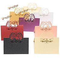 10шт Лазерная резка любовь птицы имя таблицы место карточки свадьба подарок благосклонности аксессуары