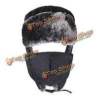 Мужская шапка-ушанка закрывающая лицо на меху