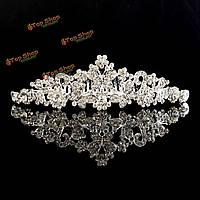 Свадебная тиара горный хрусталь бабочка цветок корона свадебный головной убор выпускного вечера оголовье с расческой