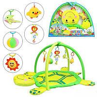 """Детский развивающий игровой коврик для младенца """"Добрая черепашка"""" Bambi 898-12 B"""