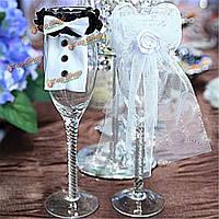 Пару бокал декоративная крышка свадебного банкета жених и невеста типа
