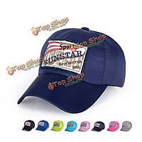 Унисекс полиэстер бейсболка сетка дышащий спорта на открытом воздухе быстро сухой регулируемые пряжки шлем