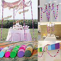 4м висит бумага гирлянда украшения партия цепь день рождения свадьба потолок баннер