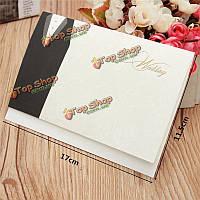 10шт для жениха напечатаны свадебные вечерние приглашения карты персонализированные конверты печатей