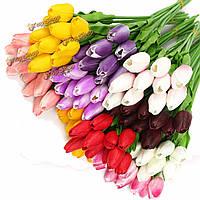 Тюльпаны цветы искуственные пластиковые 10шт