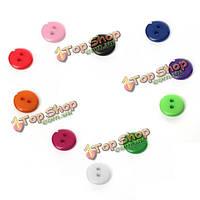 50psc круглые швейная 2 отверстия кнопки скрапбукинга украшения DIY