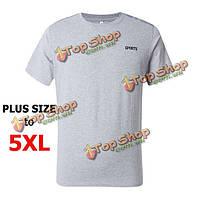 XS-5XL мужские украшения армирование плечо сплошной цвет с короткими рукавами т рубашки