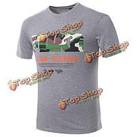 Лето новый дизайн для цветной печати мужские футболки моды чистого хлопка O шеи короткий рукав футболки
