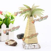 10шт искусственного кокосового дерева бумаги конфеты коробки подарка венчания аксессуары
