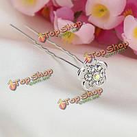 Свадебные аксессуары для волос цветок страза п-клип шпилька