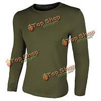Весна осень солдаты в униформе поле операции мужчины с длинными рукавами база тройники хлопка дна рубашки