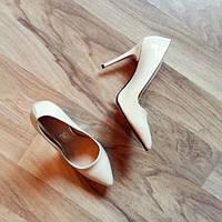 Светло-бежевые туфли-лодочки код 7 35 размер