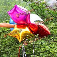 Звезда из фольги гелием воздушные шары день рождения свадьба поставляет декоры