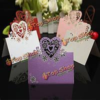 50шт романтический aesthestic лазера прорезями свадебного стола визитной карточки