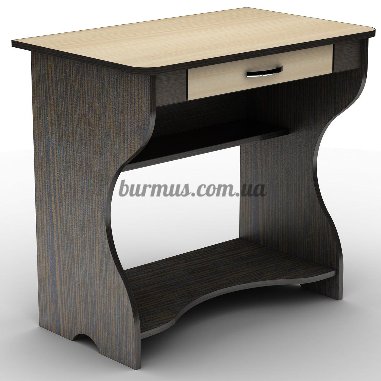 Компактный регулируемый по уклону компьютерный стол , СУ- 1, венге магия+ дуб молочный
