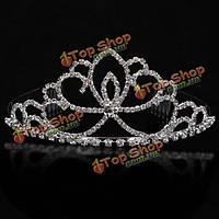 Невесты корону гребень принцесса свадебные rhinestone кристалл тиара-головные уборы щепка