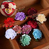 1шт лента цветы гвоздики луки аппликациями ремесло шитья коробка конфет свадебные украшения