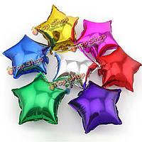 Надувной шар фольгированный Звездочка 25 см