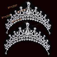 Невеста горный хрусталь кристалл тиара корона принцессы королева свадебное головной убор аксессуары для волос