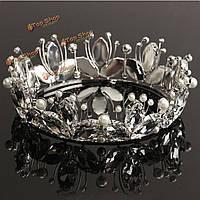 Невесты горный хрусталь жемчужина кристалл корона тиара голова принцессы украшения королевы головной убор свадебные аксессуары
