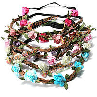 Невеста свадебный венец бохо розы цветочные венки девушки волосы группа