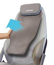 Массажная накидка HoMedics Shiatsu MAX Deluxe с разворотными роликами, прогревом, вибрацией в сиденье и чехлом, фото 3