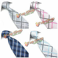 PenSee мужские лук галстук полиэстер шелк грубой сетки формальный галстук-цвета аксессуар