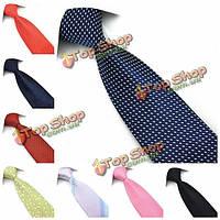 PenSee мужские шелковые галстук горошек и цветок формальный галстук-аксессуар различных цветов
