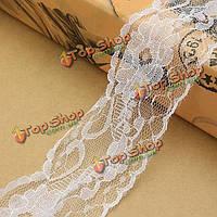 20м х 60мм Урожай белый кружева ленты свадебное Edge обрезки шитье ремесленных поделок decoractions