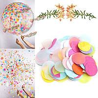 Разноцветное конфетти круглое 2.5см