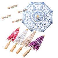 Кружева элегантный вышитые зонтик зонтик для новобрачных свадьбу проп украшение