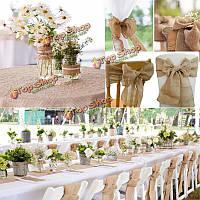 2m джут мешковину мешковины натуральный ремесло флористика ленты украшения деревенском свадьба