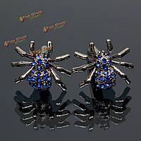 Мужчины мужской серебряный паук кристалл модели запонок свадебный подарок костюм рубашка приспособления,