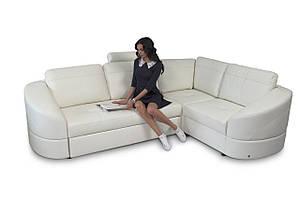 Новый угловой диван в коже Fx10 В20 Е (269 см)