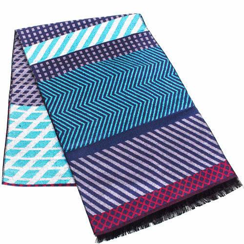 Разноцветный мужской шерстяной двухсторонний шарф 184 на 31 см ETERNO (ЭТЕРНО) ES2307-22