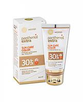 Солнцезащитный тоннирующий крем для лица гелевой текстуры Panthenol Extra Color Sun Care SPF 30