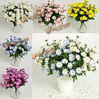 24 головы искусственный цветок ромашка букет поддельные цветы расцветают украшение партии свадебного стола