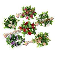 2.5м искусственный шелк цветок розы гирлянда партии домашнего декора