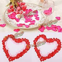 100шт атласа в форме сердца свадебный скрап-украшения