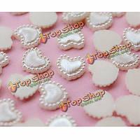 50шт DIY ремесло искусство белой смолы сердце скрапбукинг свадебный декор