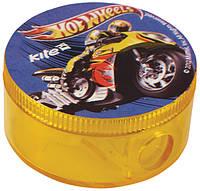 """Точилка круглая, с контейнером """"Hot Wheels"""""""